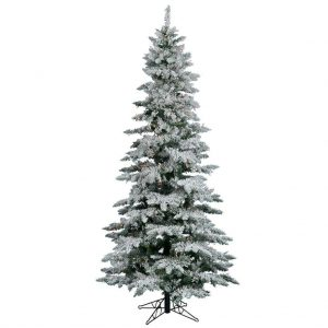 Vickerman Flocked Slim Utica Tree with 300 LED Light