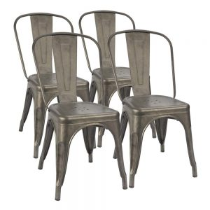 Furmax Metal Dining Chair Indoor-Outdoor