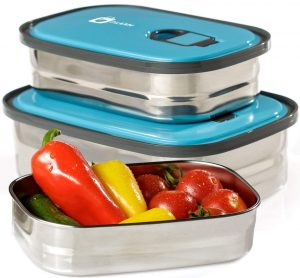 Bento Lunch Box Food Container Storage Set 3 In 1
