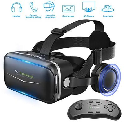 6. Pansonite VR Headset with Remote Controller