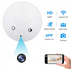 Spy Hidden Camera, ZDMYING WiFi Smoke Detector Camera