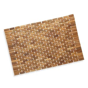 Luxurious Bamboo Bath Mat For Shower