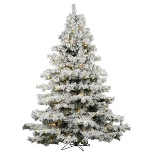 "Vickerman 36"" Flocked Alaskan Pine Artificial Christmas Tree"