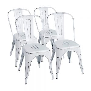 Furmax Metal Chairs Distressed Style Dream