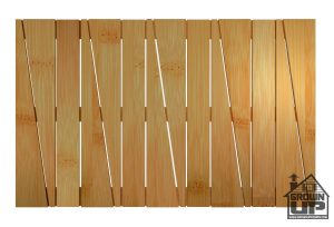 Bamboo Deluxe Shower Floor and Bath Mat