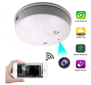 JLRKENG WiFi Night Vision Hidden Spy Camera Smoke Detector