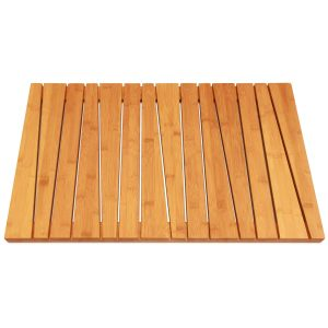 ToiletTree Products 100% Natural Bamboo Deluxe Shower Floor Bath Mat