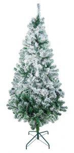 CAROL XMAS TREE/PET PRODUCTS 8 Ft. Flocked Unlit Christmas Tree