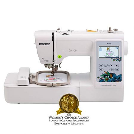 5. Brother Embroidery Machine, PE535, 80 Built-in Designs, Large LCD Color Touchscreen Display: