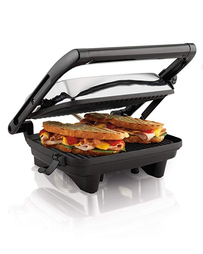7. Hamilton Beach Panini Press Sandwich Maker