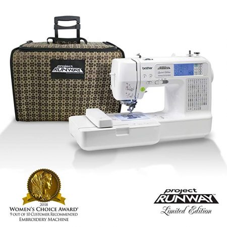 6. Brother LB6800PRW Project Runway Computerized Embroidery and Sewing Machine with Included Rolling Carrying Case: