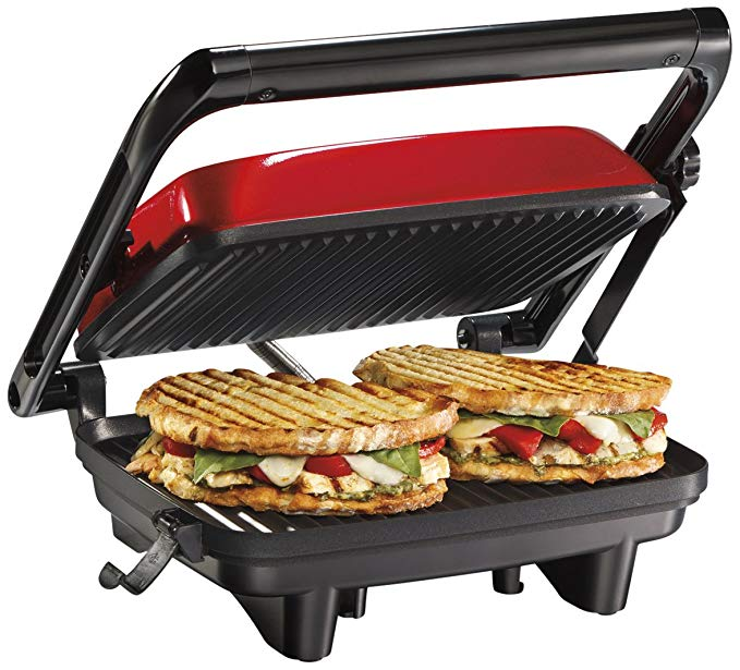 8. Hamilton Beach Panini Press & Gourmet Sandwich Maker