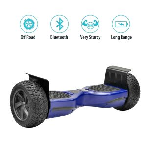 NHT Hoverboard - All Terrain Rugged 8.5 Inch Wheels Off-Road Electric Smart Self Balancing Scooter