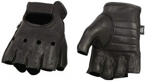 Shaf International SH851-BLK-XL Deer Skin Fingerless Gloves