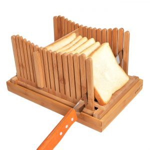 Kinwell Nature Bamboo Foldable Bread Slicer