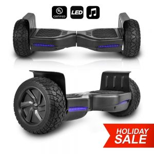 CHO All Terrain Black Rugged 8.5 Inch Wheels Hoverboard Off-Road