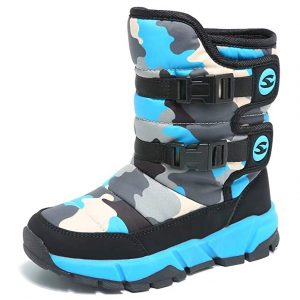 GUBARUN Boys Snow Boots Winter Waterproof Slip Resistant Cold Weather Shoes