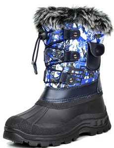 DREAM PAIRS Boys & Girls KSNOW Insulated Waterproof Snow Boots