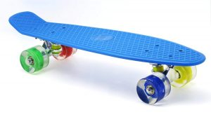 "Merkapa 22"" Complete Skateboard with Colorful LED Light up Wheels for Beginner"