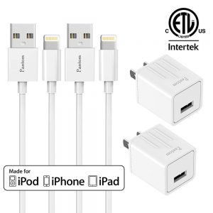 Chargers, Pantom 2-Pack Charging Adapter Travel Wall Chargers