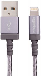 AmazonBasics Nylon Braided Lightning to USB A Cable