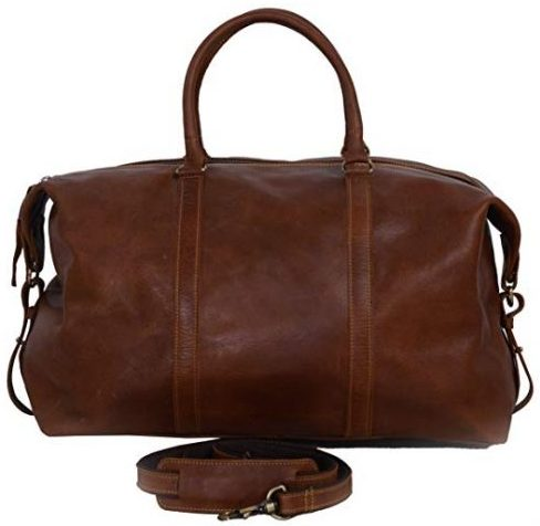 KomalC Leather Duffel Bag
