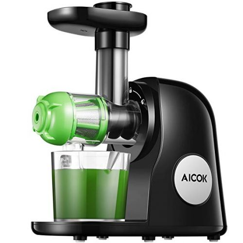 7. Juicer Machines, Aicok Slow Masticating Juicer Extractor Easy to Clean