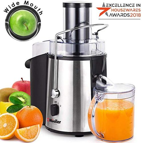 8. Mueller Austria Juicer Ultra 1100W Power, Easy Clean Extractor Press Centrifugal Juicing Machine