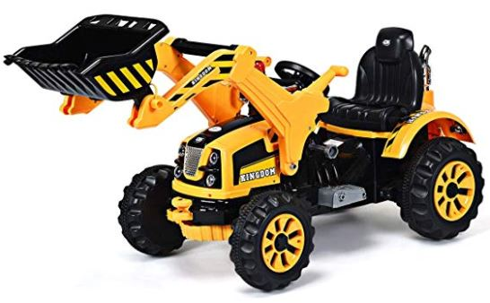 Battery Powered 12V Kids Ride On Excavator, Electric Truck by Costzon