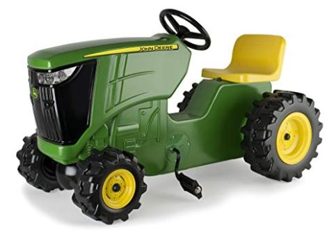 TOMY John Deere Plastic Pedal Tractors, Pedal Powered Ride-on Toy Tractor