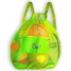 11. FunFitness Mesh Sports Bag for Soccer Ball and Basketball