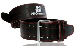 12. ProFitness Genuine Leather Weightlifting Belt