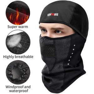 2. KINGBIKE Balaclava Ski Mask with Micro-polar Fleece