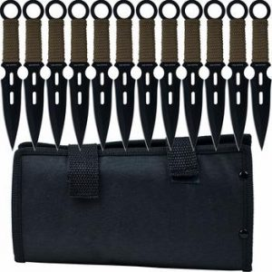 2. Whetstone Cutlery 12 Piece Set of S-Force Kunai Knives