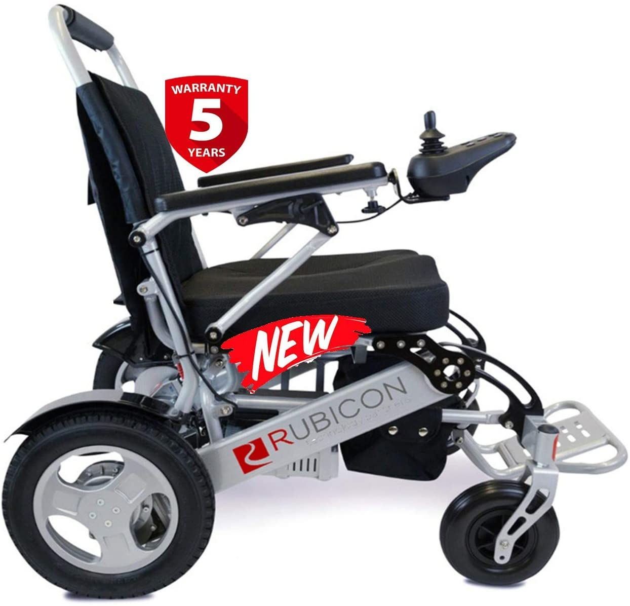 "Rubicon Best Rated Exclusive Dual ""500W"" Motors Deluxe Electric Wheelchair"